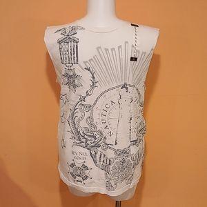 Nautical Sleeveless T-Shirt LARGE
